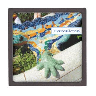 バルセロナのトカゲ手のモザイク ギフトボックス
