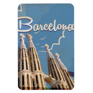 バルセロナのヴィンテージ旅行ポスター マグネット