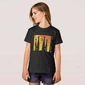 バルセロナの女の子のワイシャツ Tシャツ