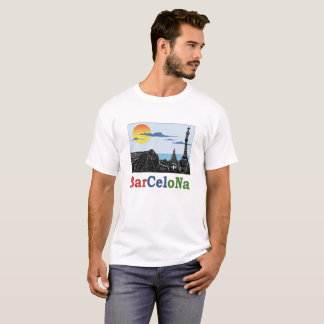 バルセロナの男性Tシャツ Tシャツ