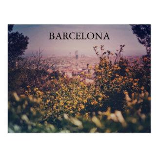 バルセロナの郵便はがきの午後 ポストカード