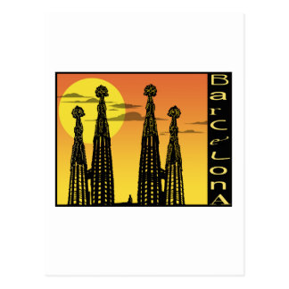 バルセロナの郵便はがき ポストカード
