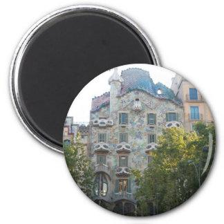 バルセロナのGaudiのスタイルの家 マグネット