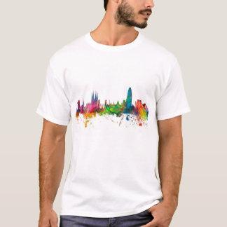 バルセロナスペインのスカイライン Tシャツ