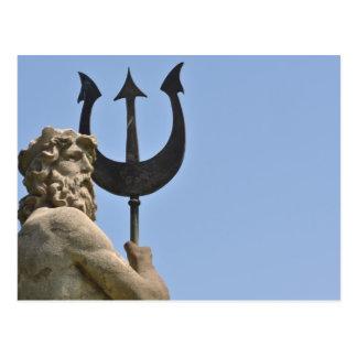 バルセロナスペインの郵便はがきのPoseidonの彫像 ポストカード