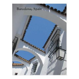 バルセロナスペインの郵便はがき ポストカード