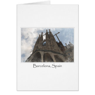 バルセロナスペインのLa Sagrada Familia カード