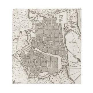 バルセロナスペイン(1764年)のヴィンテージの地図 ノートパッド