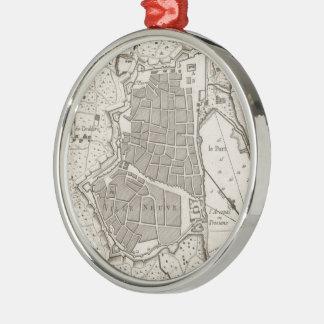 バルセロナスペイン(1764年)のヴィンテージの地図 メタルオーナメント
