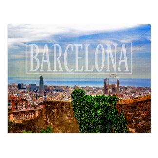 バルセロナ都市 ポストカード