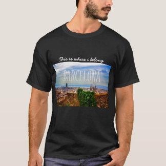 バルセロナ都市 Tシャツ