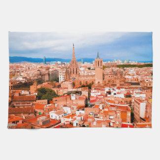 バルセロナ キッチンタオル