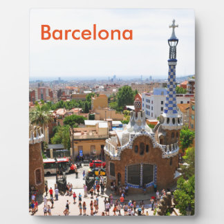 バルセロナ、スペインの公園Guell フォトプラーク