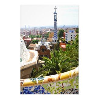 バルセロナ、スペインの公園Guell 便箋