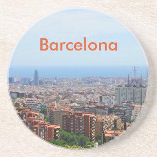 バルセロナ、スペインの空中写真 コースター