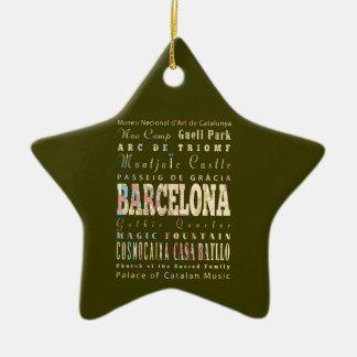 バルセロナ、スペインの魅力及び有名な場所 セラミックオーナメント