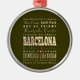 バルセロナ、スペインの魅力及び有名な場所 メタルオーナメント