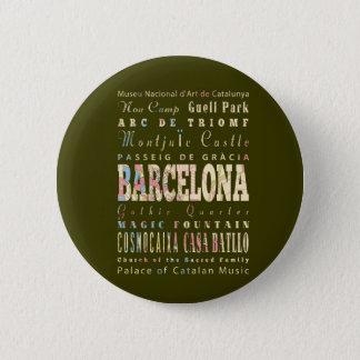 バルセロナ、スペインの魅力及び有名な場所 5.7CM 丸型バッジ