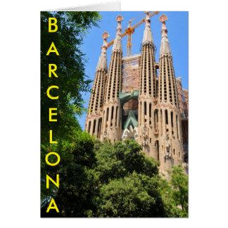 バルセロナ、スペインのSagrada Familia カード