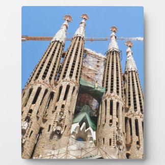 バルセロナ、スペインのSagrada Familia フォトプラーク