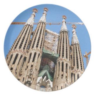 バルセロナ、スペインのSagrada Familia プレート