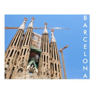 バルセロナ、スペインのSagrada Familia ポストカード