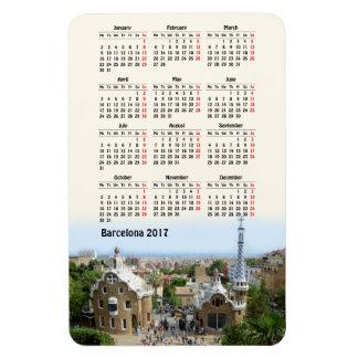 バルセロナ、スペイン2017のカレンダー マグネット