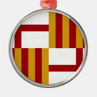 バルセロナ(スペイン)の旗 メタルオーナメント