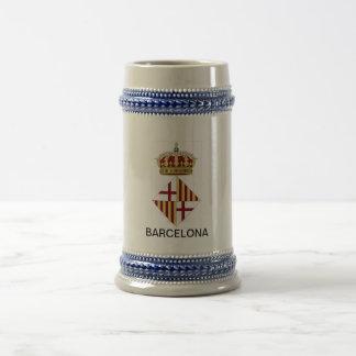 バルセロナ(スペイン)の紋章付き外衣 ビールジョッキ