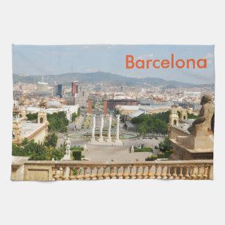 バルセロナ、スペイン キッチンタオル