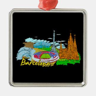 バルセロナ-スペイン メタルオーナメント