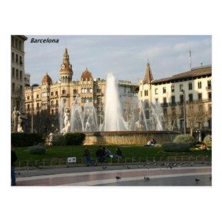 バルセロナ--広場--Catalunya--[kan.k] .JPG はがき