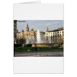 バルセロナ--広場--Catalunya--[kan.k] .JPG カード
