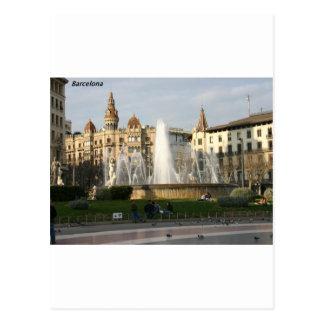 バルセロナ--広場--Catalunya--[kan.k] .JPG ポストカード