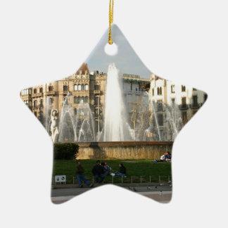 バルセロナ--広場--Catalunya--[kan.k] .JPG 陶器製星型オーナメント