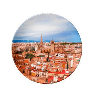 バルセロナ 磁器プレート