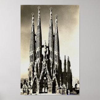 バルセロナ、Sagrada Familia ポスター