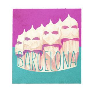 バルセロナGaudiの楽園 ノートパッド