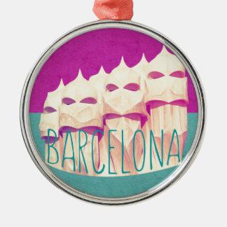 バルセロナGaudiの楽園 メタルオーナメント