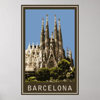 バルセロナSagrada Familia ポスター