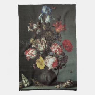 バルタザールvan der Ast著ヴィンテージのバロック式の花 キッチンタオル