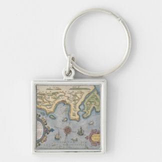 バルト海のオランダの貿易地図 キーホルダー