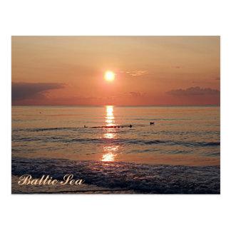 バルト海の写真の郵便はがきの美しい日没 ポストカード