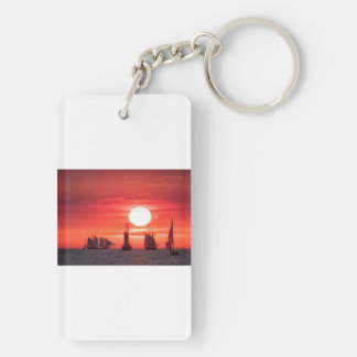 バルト海の日没ライトのWindjammer キーホルダー