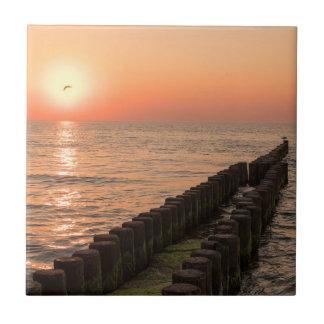 バルト海の日没 タイル
