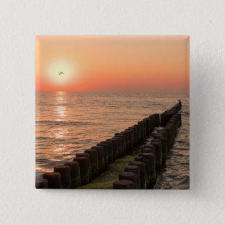 バルト海の日没 缶バッジ