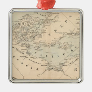 バルト海 シルバーカラー正方形オーナメント