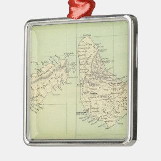 バルバドスおよびトバゴ(1853年)のヴィンテージの地図 メタルオーナメント