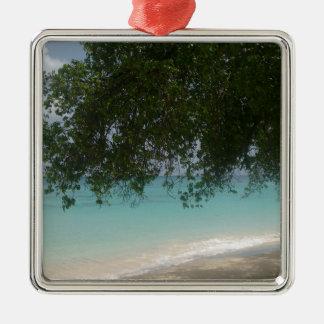 バルバドスのカスタマイズ可能なビーチ メタルオーナメント