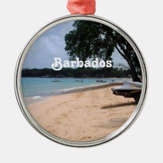 バルバドスのビーチ メタルオーナメント